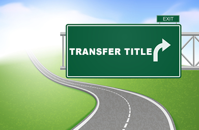 Street sign that says Transfer the Title