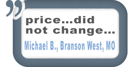 Branson West, MO Customer Comments
