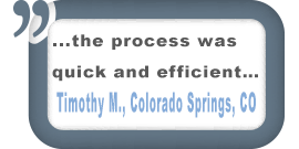 Colorado Springs, CO Customer Comment