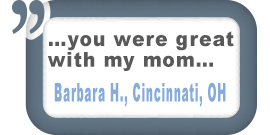 Cincinnati, OH Customer Testimonial