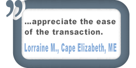 Cape Elizabeth, ME Customer Comment