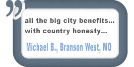 Branson West, MO Customer Comment