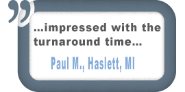 Haslett, MI Customer Comment
