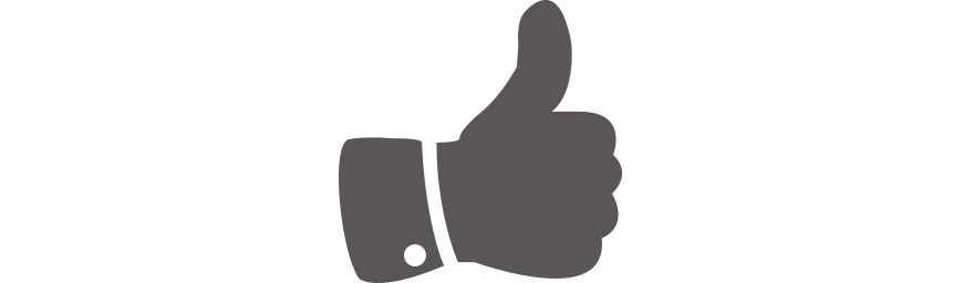 Human hand gives a thumbs up to RPM Customer Testimonials