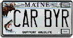 Maine License Plate