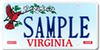 Virginia License Plate